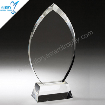High quality New clear Crystal flame trophy