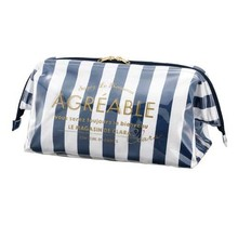 Lastest Beauty Japan cotton with laminated pvc cosmetic bag