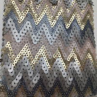 Fashion New Design Sequin and beaded tulle fabric for dress