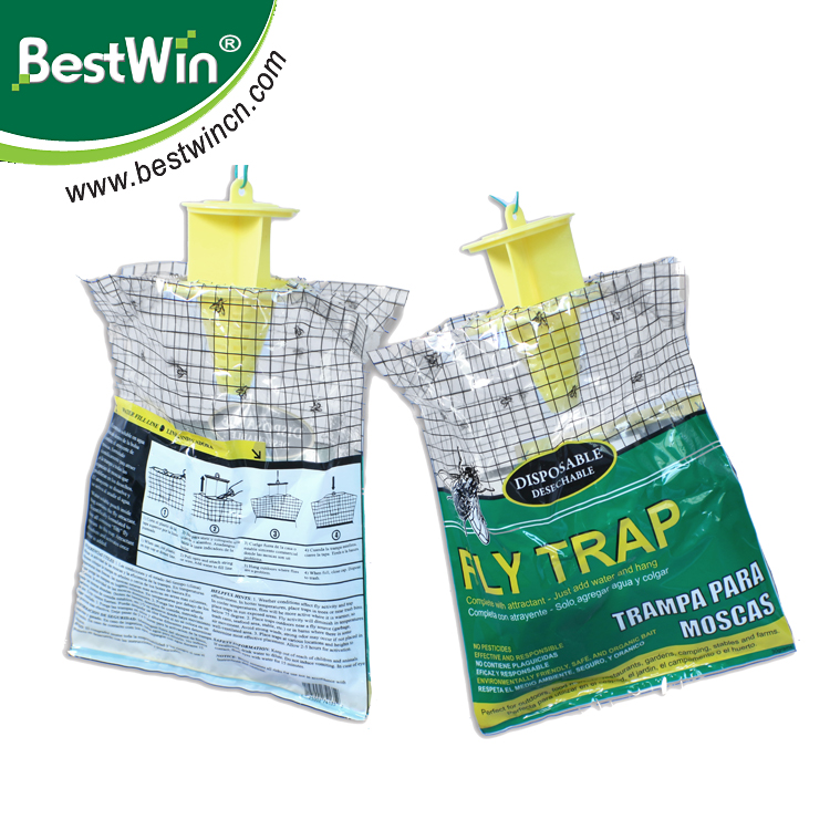 BSTW Factory New Hot Disposable Nontoxic fly hanging plastic bags for bags