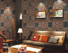 Traditional Chinese Style Bamboo Pane and Pine Wood Pattern Wallpaper Home Decoration