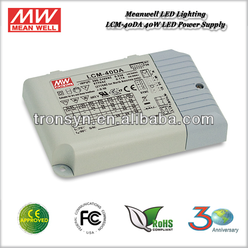 Meanwell 40W 600mA dimmable led drivers LCM-40DA Multiple-Stage Output Current LED Power Supply With Dimming and PFC Function