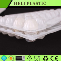 hatching customized plastic PET egg packaging tray