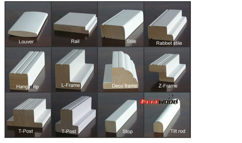 Water-based White Undercoat Basswood Shutter Components