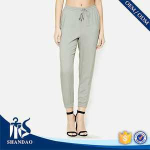 Guangzhou Shandao Custom New Arrival Women Summer Draw String Ankle Banded casual pants