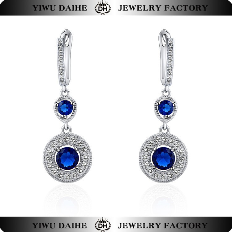 925 Sterling Silver Clip-On Hoop Earrings High Quality Zirconia Stones Women Jewelry Gift Earrings