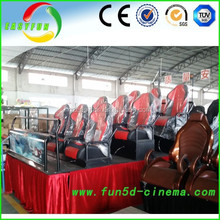 2015 new juego of Vchat machine fix 5d theater interactive 7d cinema 9d cinema theater movie amusement park train for sale