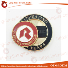 Magnetic Custom logo Pocket Coin With removable Golf Ball Marker
