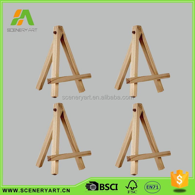 Elegant shape small table wooden easel