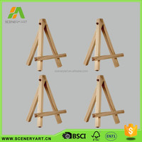 Elegant shape small table wooden easel