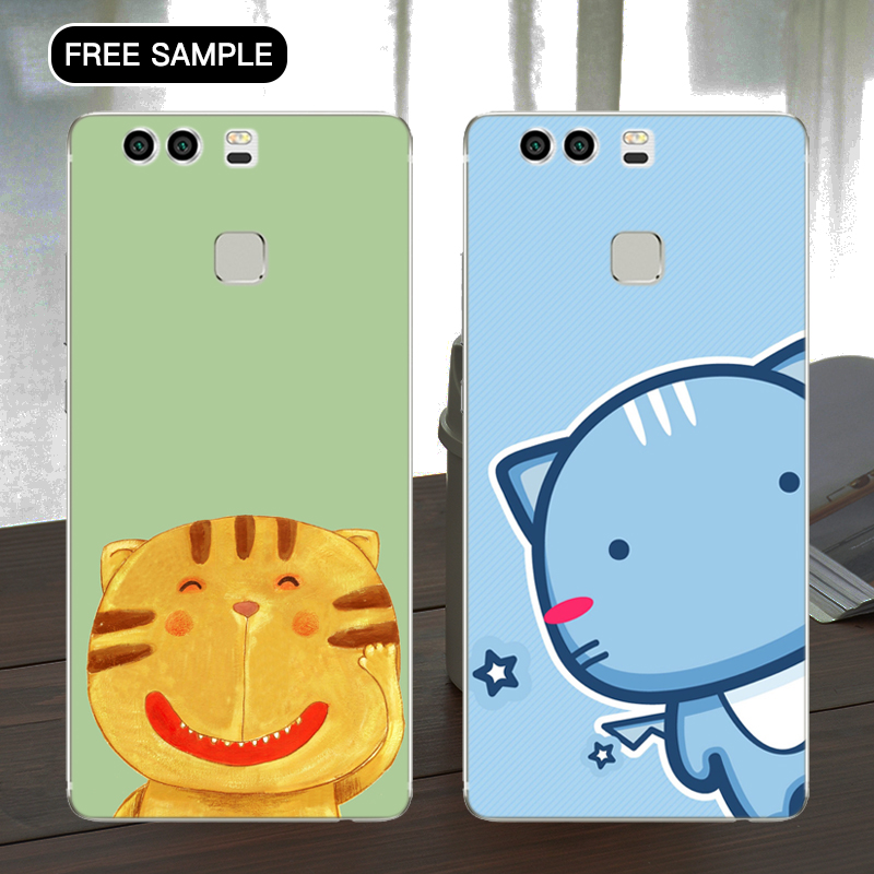 Free sample cat phone case for huawei 5c Promotion phone case for huawei Crystal Clear Hard Phone Case with L/C