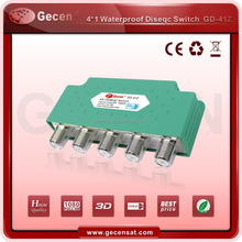 GECEN GD-41Z popular water proof 4 in 1 out DiSEqC Switch 4 in 1 Excellent quality chip