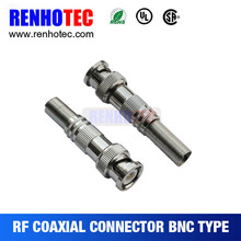 Male Crimp Conectores BNC con Bota Larga para Cable Rg59