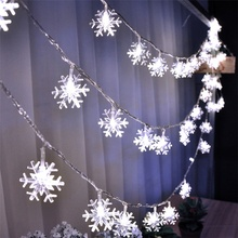Christmas Decoration LED Snowflake String Garland Light