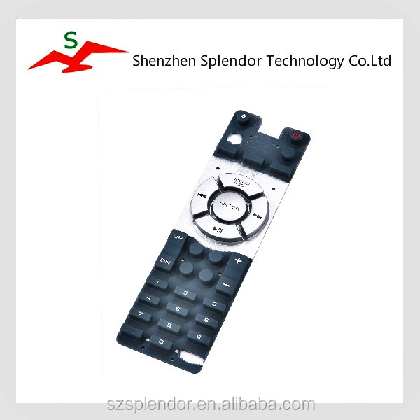 Customized silicone keypad for controller