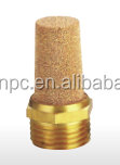 brass Sintered Threaded Pneumatic Exhaust Muffler