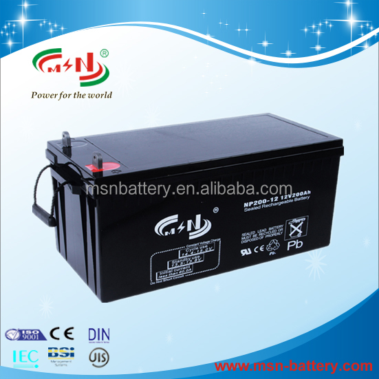 Top sale China manufacturer 12v 200ah agm solar battery