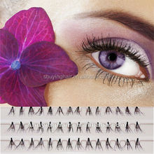 Factory hot sell false eyelashes professional full strip korean eyelash extensions 100% Human Hair Eyelashes