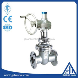 Stainless steel flange type wedge gate valve gear operated
