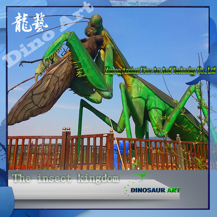 Outdoor decoration equipment theme park large insects mantis 3d models sculpture
