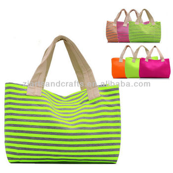 Pretty colorful neoprene tote bag