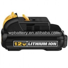 Dewalt Electrical tools replacement Li-ion battery 12V 1.3Ah rechargeable Lithium ion battery for Dewalt 152250-27 397745-01