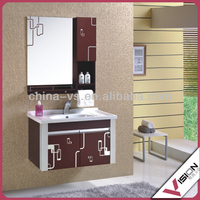 Zebra wood bathroom furniture glass furniture melamine bathroom furniture