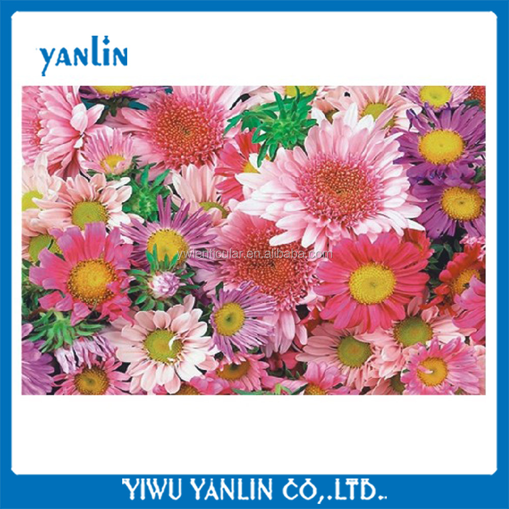 3d lenticular flower post card christmas card