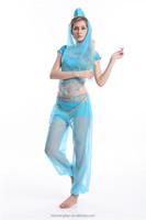 walson Instyles Women New Blue Belly Dance Costume Bra and Belt Set Indian Dancing Clothes