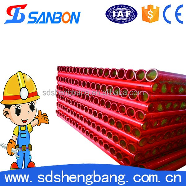 Higher quality ST52 Schwing Wear Resistant Concrete Pump Lined Pipe with Pipe Fittings