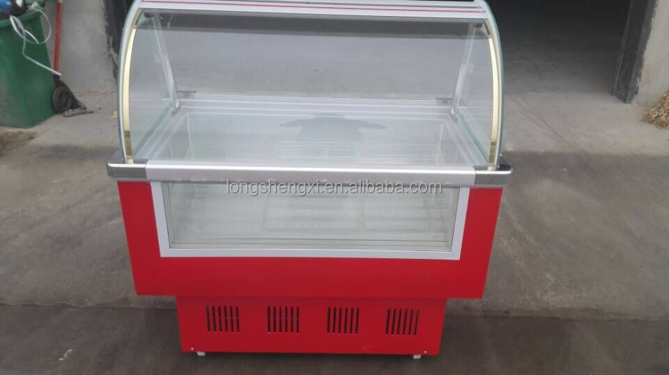 Commercial ice cream popsicle display freezer for sale
