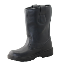 NMSHIELD high quality smooth cow split safety leather boots