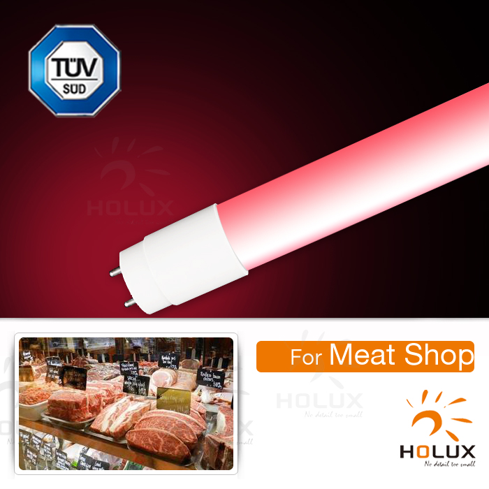 smd2835 pink color 1500mm 24w led tube for meat shop