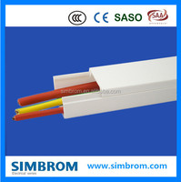 Cable tray/ Arc Floor cable duct for electric wire,Pvc Industrial Trunking 60 X 40