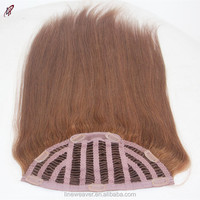 100%Brazilian Hair unprocessed Double weft Human clip in Hair Extensions silky Straight brown 33#color Hair Weave