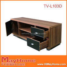 Particle board finish wooden effect simple TV stand cabinet