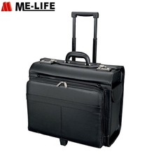 PU leather suitcase luggage China pilot bag trolley case leather pilot case pilot suitcase
