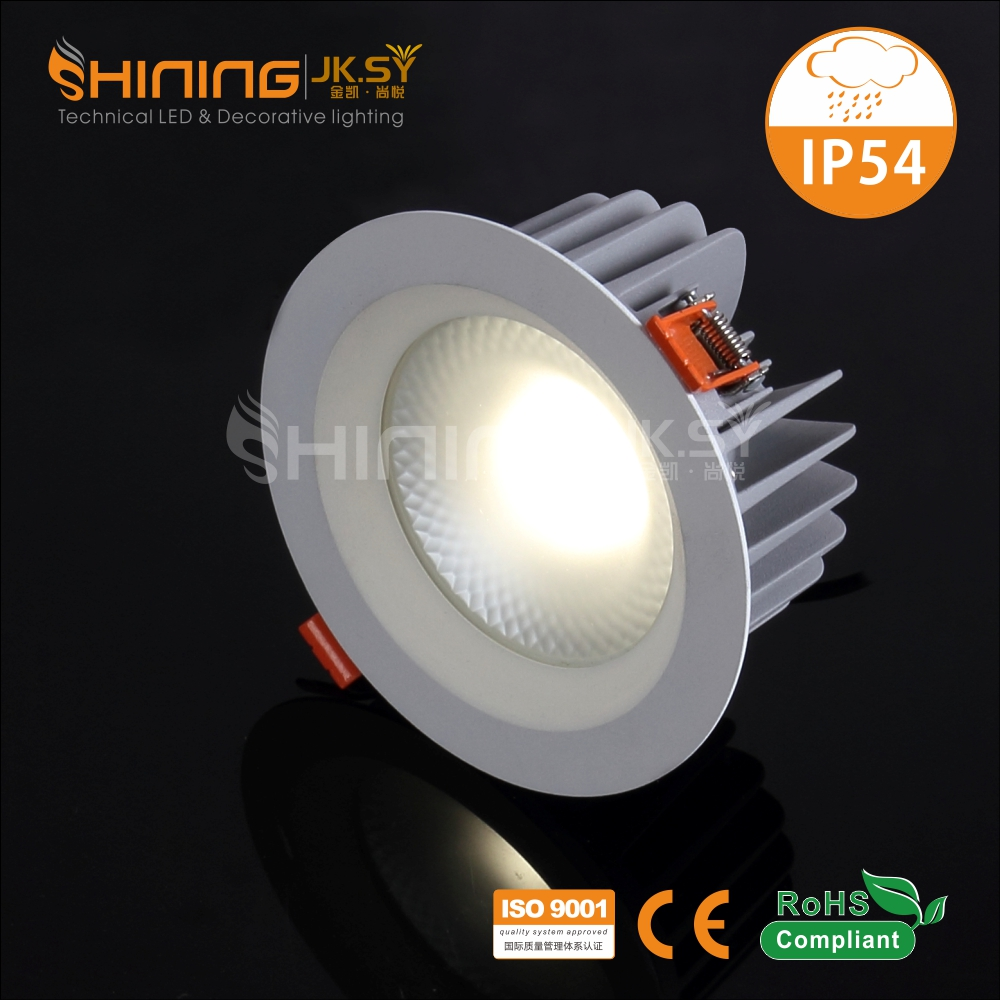 IP54 Outdoor Water Proof Recessed Dimmable Led Down Light Cob Led Downlight Max 60W Led Downlight China Manufacture Price
