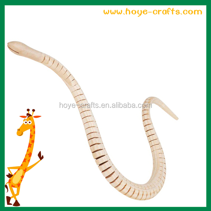 diy painting kids toy wooden animal 50cm snake
