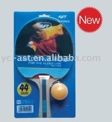 Long pimple one star table tennis racket with 44mm big ball