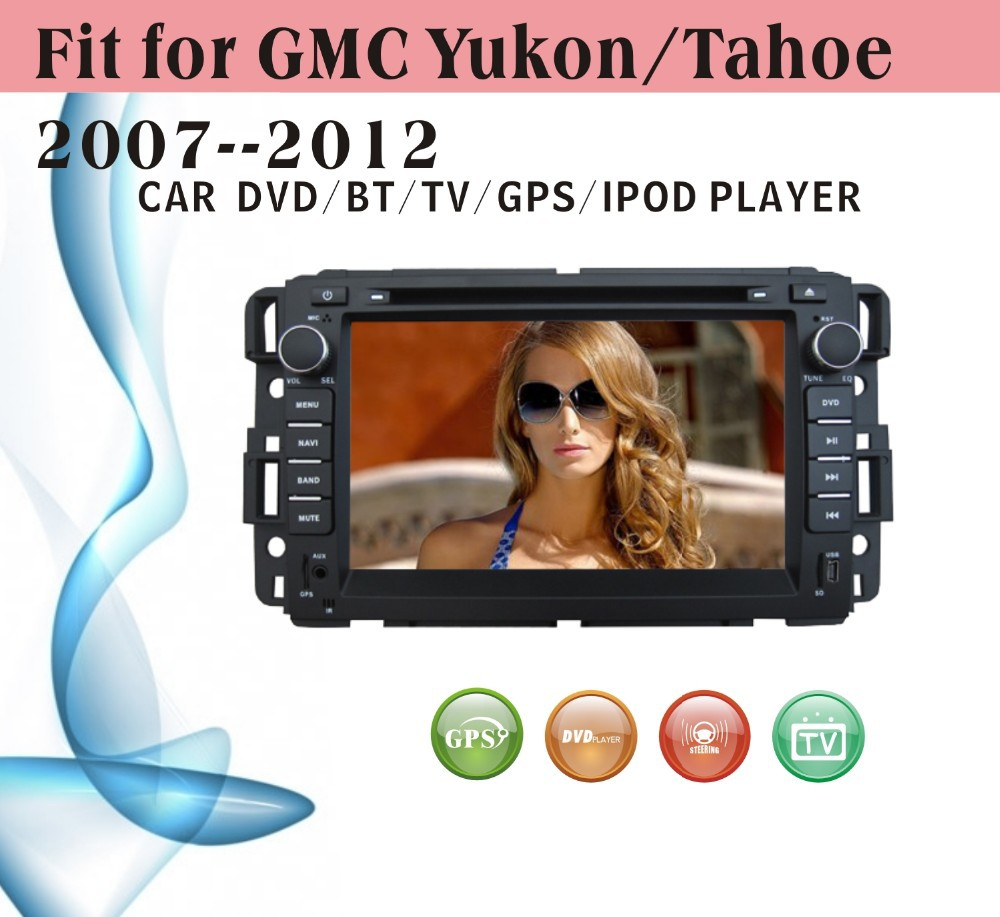 car gps navigation fit for GMC 2007 - 2012 Yukon Buick Enclave with new design big USB manual with radio bluetooth gps tv