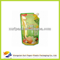 high quality customized colorful printed reusable food spout pouch