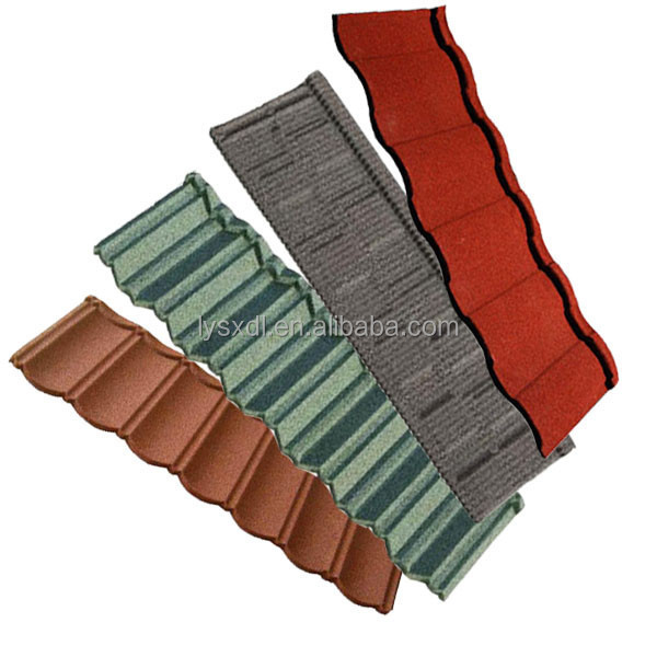 metallic color coated steel roofing tile/ waterproof anticorrosion color steel roofing tile