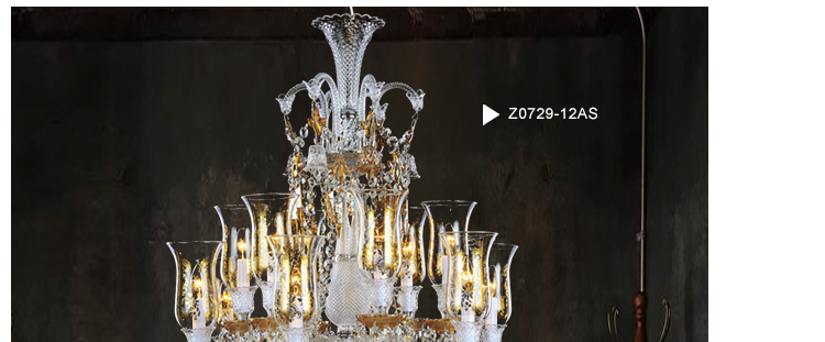 Baccarat Style Crystal Chandelier Lamp for Interior Decoration