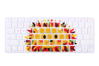 Colored silicon laptop keyboard skin,silicone keyboard protective cover