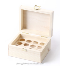 FSC&SA8000&BSCI solid pine wooden 10ml 15ml four five spaces compartmenEssential olive Oil perfume bottles Storage case gift box