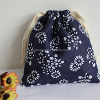 Screen Printed Cotton Drawstring Pouch and Cotton Bags 20cm*24cm