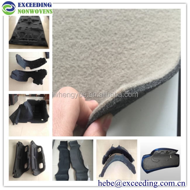 Polyester material recycled pet felt for thermoforming