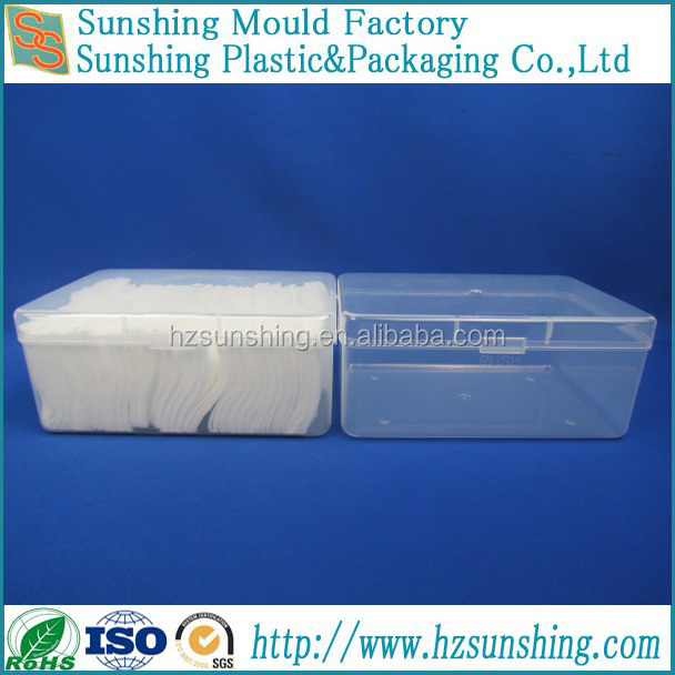 Recyclable Clear Cosmetic Cotton PP Case