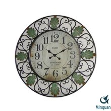 French Quarter Metal Art Decor Wall Clock